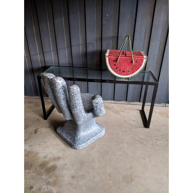 Sculptural Granite-Look Hand Chair For Sale - Image 11 of 13