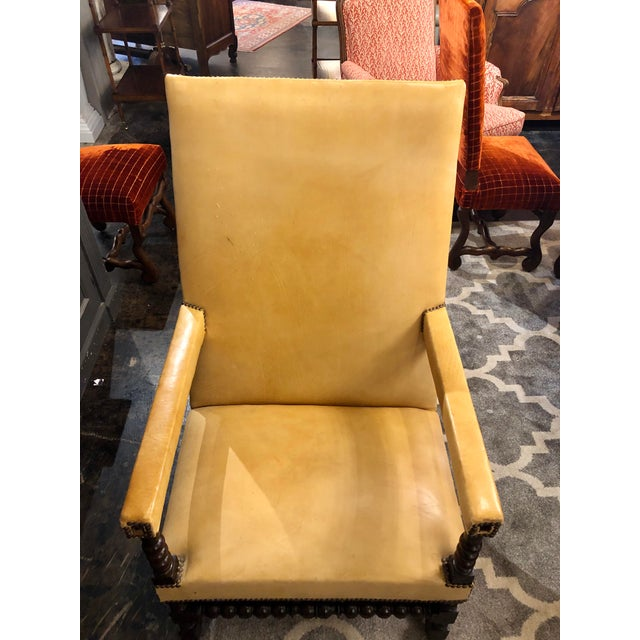 Traditional Louis XIII Period Arm Chair For Sale - Image 3 of 7