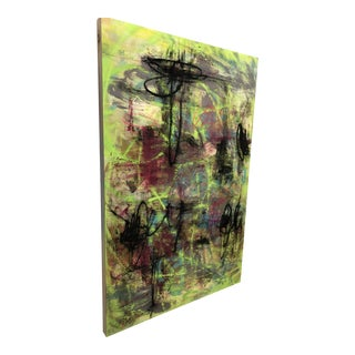 Abstract Expressionist Painting on Panel For Sale