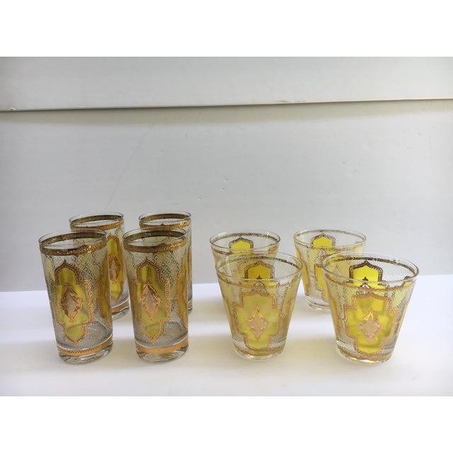1960s Vintage Glasses - Set of 8 For Sale In Miami - Image 6 of 6