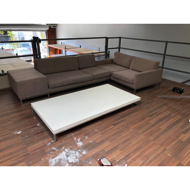 Contemporary Ligne Roset Styled Sectional Modern Sofa With Chrome Base For Sale - Image 3 of 13