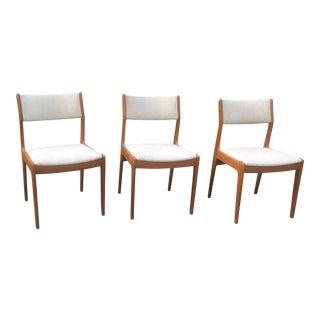Vintage Danish Modern Teak Chairs- Set of 3 For Sale