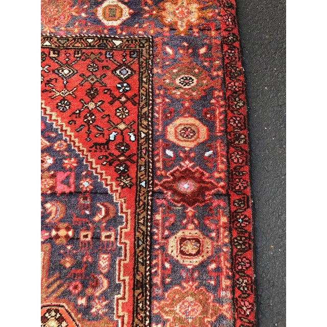 """1960s Vintage Persian Hamadan Rug - 3'11"""" x 6'8"""" For Sale - Image 5 of 11"""