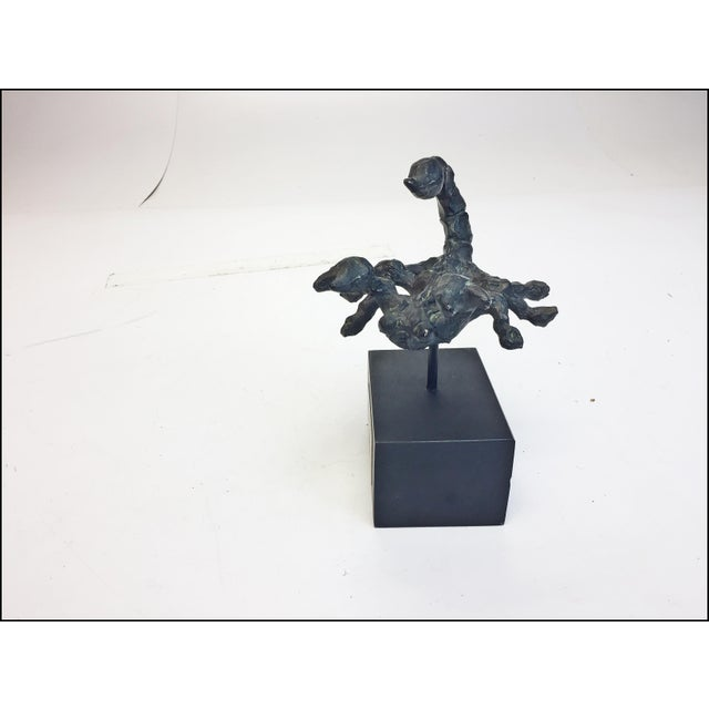 Gold Mid Century Modern Brutalist Scorpio Sculpture For Sale - Image 8 of 13