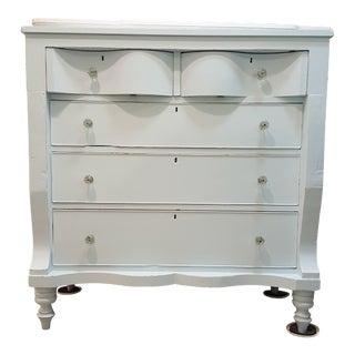 Vintage Empire Dresser Pale Blue Distressed Dresser For Sale