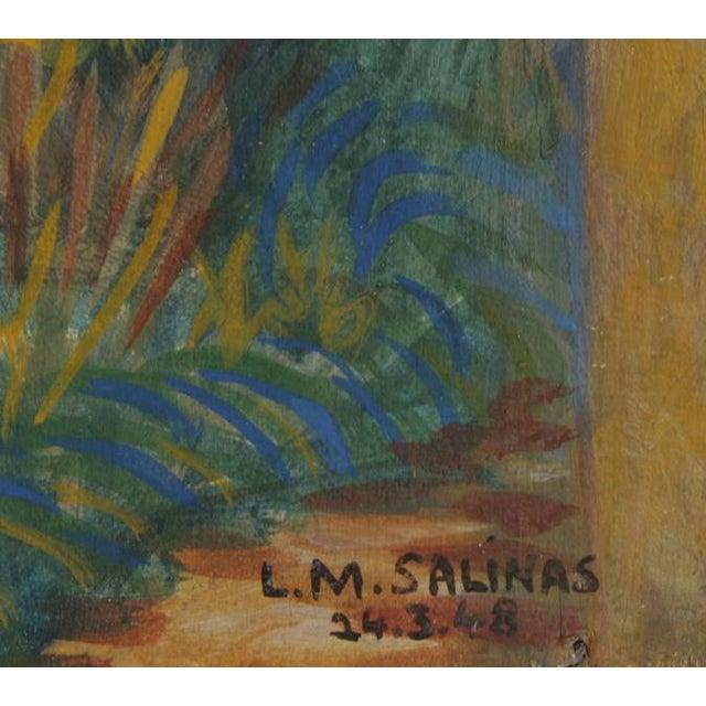 Artist: Laurent Marcel Salinas, Egyptian/French (1913 - 2010) Title: Mirmande Year: 1948 Medium: Oil on Masonite Size: 19...