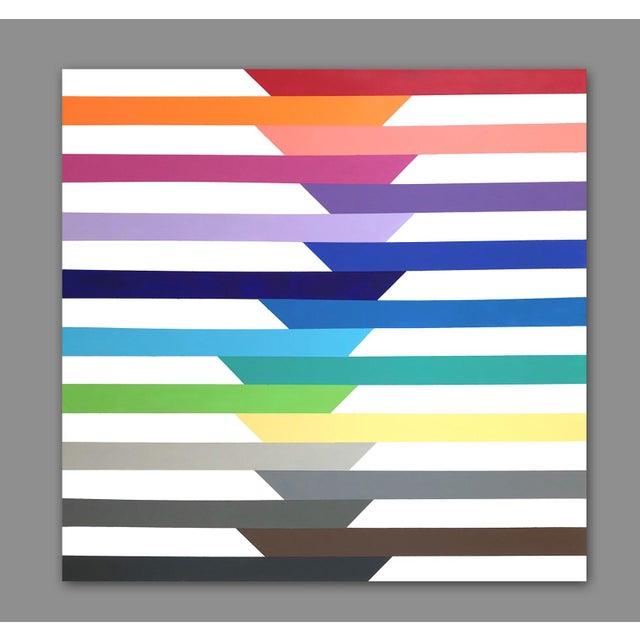 2010s 'Spectra' Original Op Art Painting by Linnea Heide For Sale - Image 5 of 8