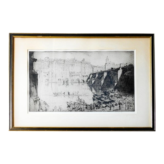 1926 Frank Brangwyn Etching Albi France For Sale