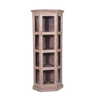 Rustic Chevell Wooden Corner Cabinet For Sale