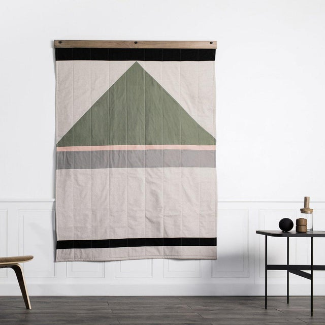 Louise Gray Throw Quilt No. 8 For Sale - Image 5 of 9