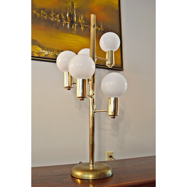 Mid-Century Space Age Descending Ball Table Lamp - Image 2 of 7