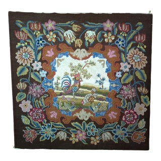 19th Century French Needlepoint Textile Art For Sale
