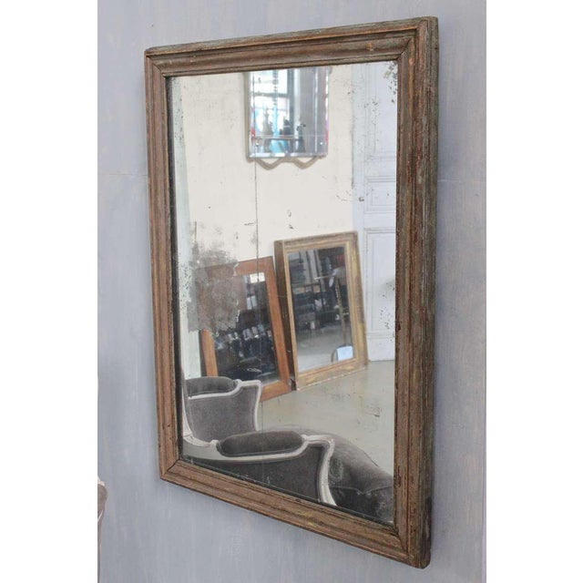 French Mercury Mirror with Wooden Back - Image 2 of 11