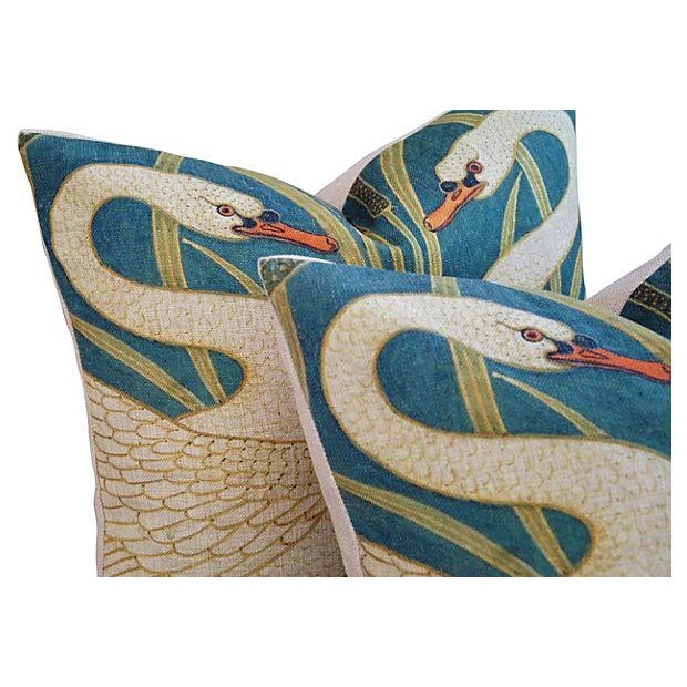 Swans Linen & Down/Feather Pillows - Pair - Image 4 of 8