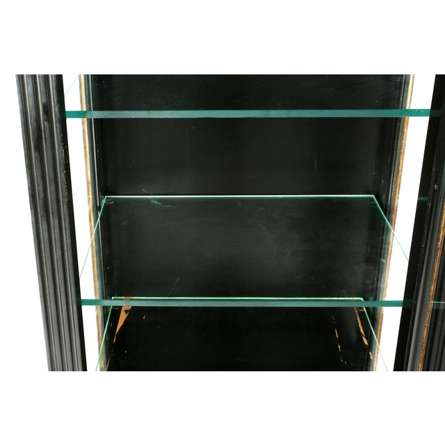 Contemporary Pair Mid 20th Century Gilt Wood Ebonised Cabinets / Vitrines For Sale - Image 3 of 13
