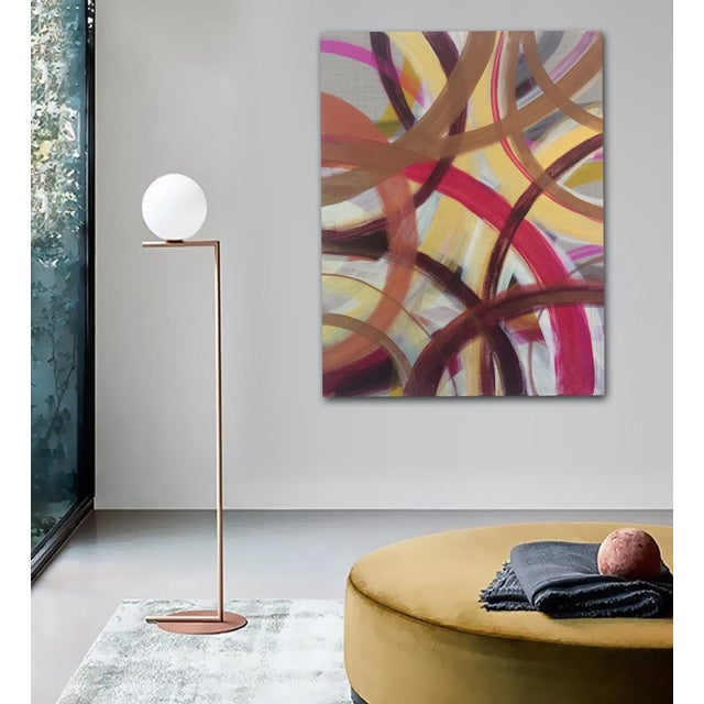 'AUTUMN' original abstract painting by Linnea Heide - Image 5 of 7
