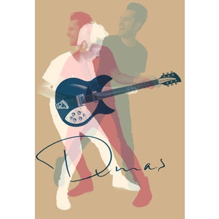 Minimalist Music Poster, Dumas Guitarist For Sale