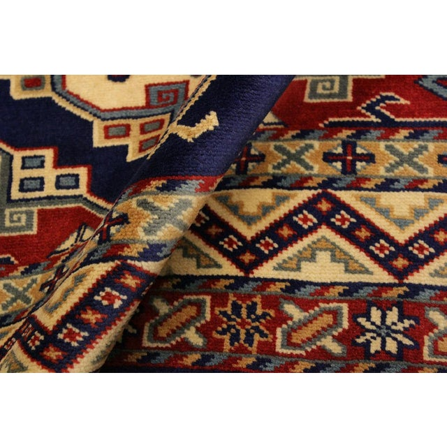 Traditional Sherwan Sheridan Blue/Ivory Wool Rug - 4'4 X 5'11 For Sale - Image 3 of 8