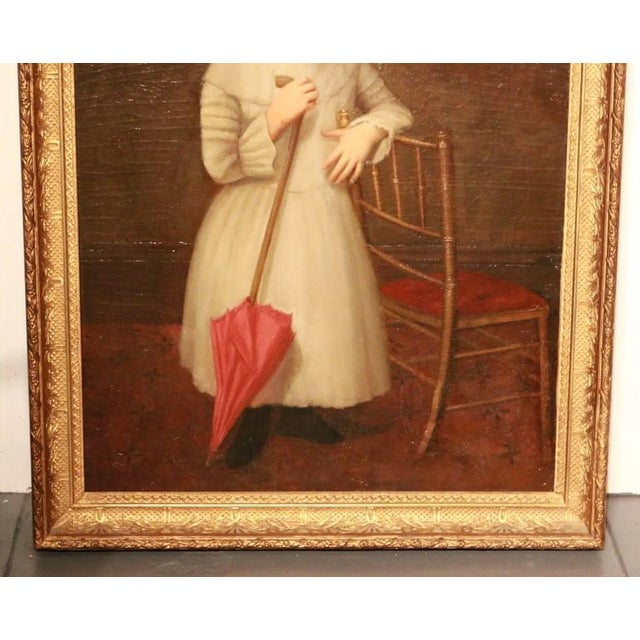 Early 19th Century American Folk Art Portrait from New England - Image 3 of 9