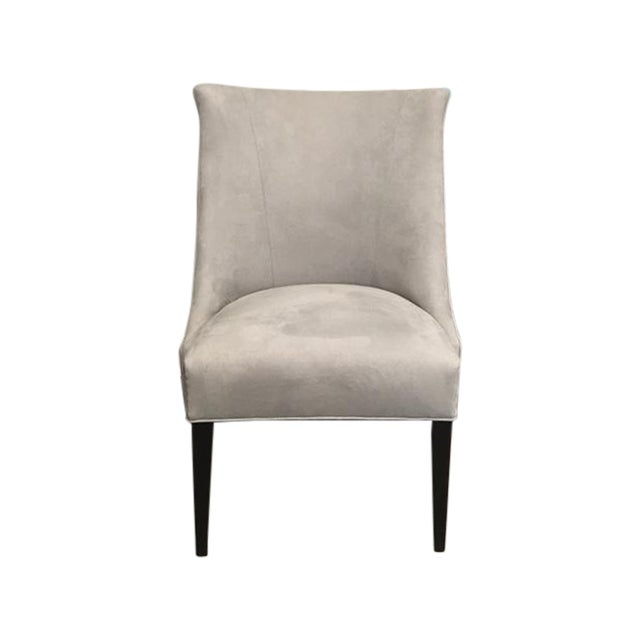 Vintage Chair With Donghia Gray Ultrasuede - Image 1 of 7