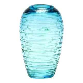 Fulvio Bianconi Italian Threaded Art Vase For Sale