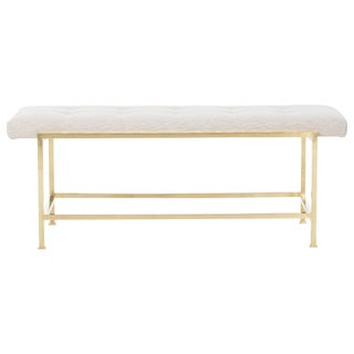 Edward Wormley Brass Bench For Sale
