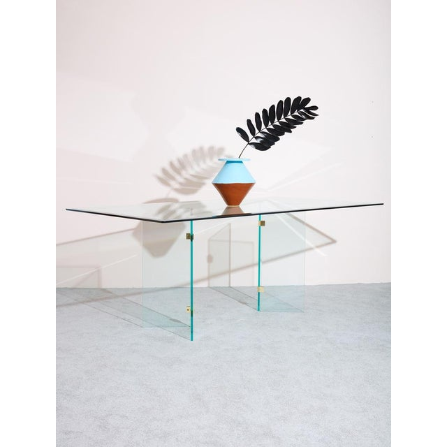 1980s 1980s Pace Collection Glass Dining Table For Sale - Image 5 of 6
