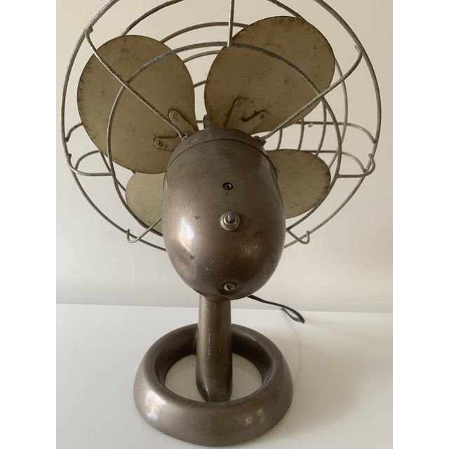 Metal Emerson Vintage Fan For Sale - Image 7 of 12