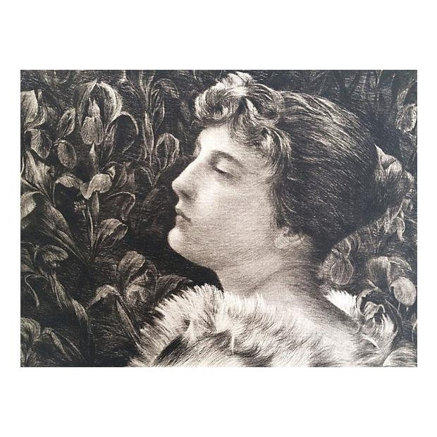 Etching Portrait of Lucille by William St John Harper 1888 - Image 3 of 6