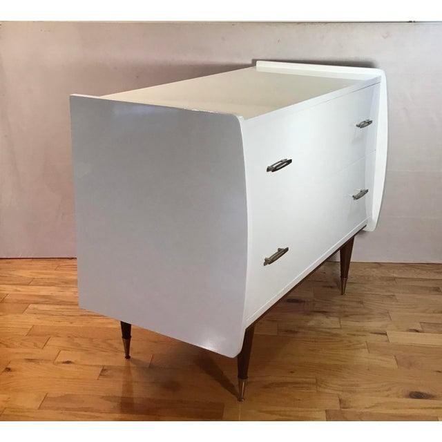 Gio Ponti 1950's Italian Chest Manner of Gio Ponti - a Pair For Sale - Image 4 of 13