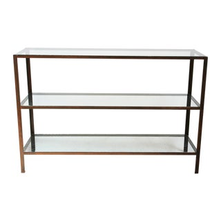 Mesco Wire Glass & Iron Shelf For Sale
