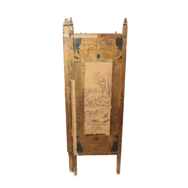French Antique Tapestry Fire Screen For Sale - Image 3 of 7