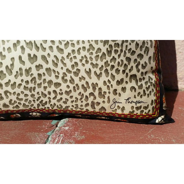 Jim Thompson Silk Leopard Pillow - Image 3 of 4