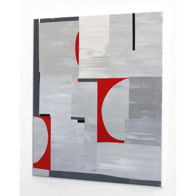 """Abstract """"Red Eclipse"""" Original Artwork by Heny Steinberg For Sale In Los Angeles - Image 6 of 9"""