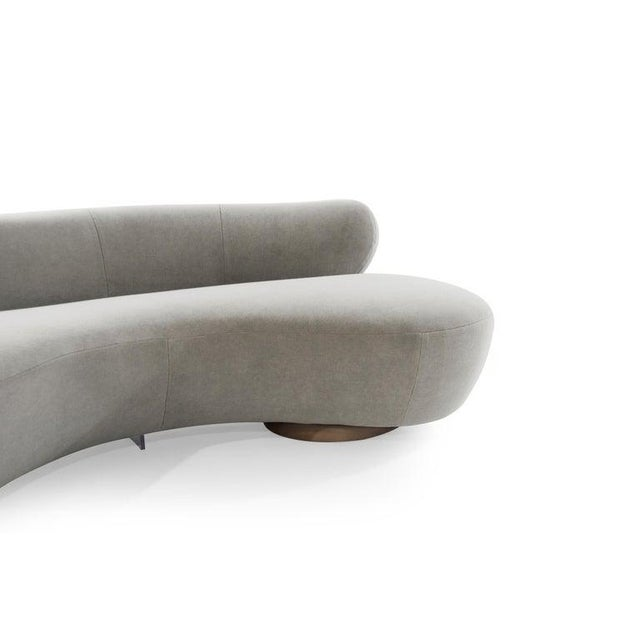 Wood Mohair Cloud Sofa on Walnut Bases by Vladimir Kagan for Directional For Sale - Image 7 of 13