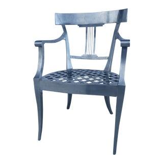 Vintage Aluminum Metal Chair For Sale