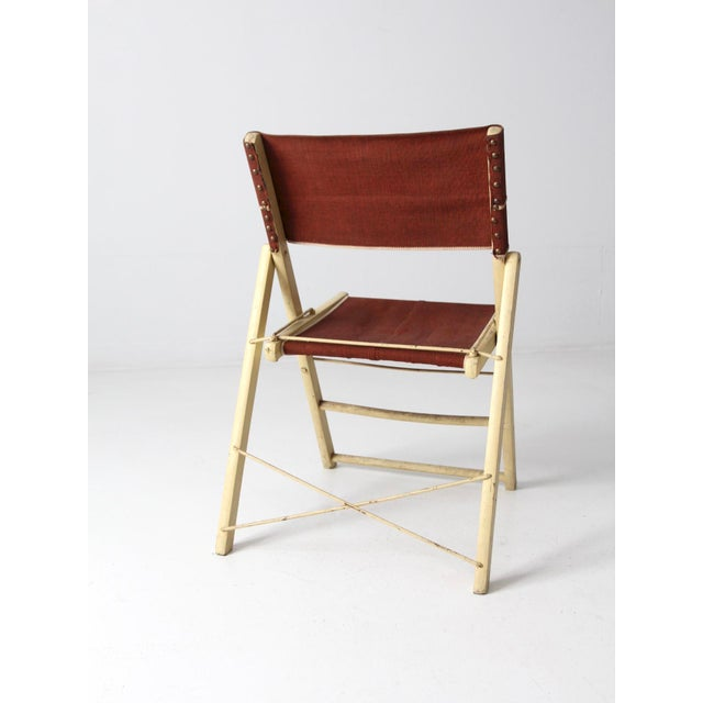 Mid-Century Folding Chair For Sale - Image 4 of 8