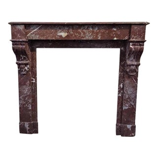 French Antique Marble Mantel For Sale