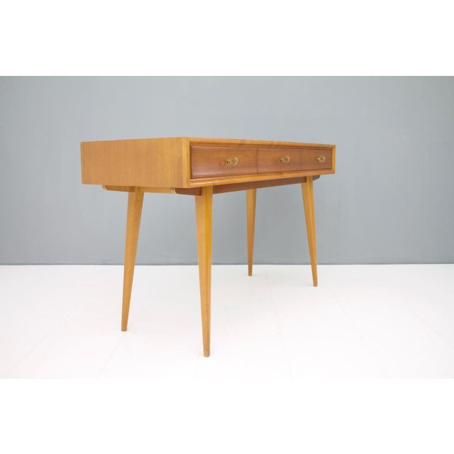 Blue Console Table Vanity by Helmut Magg, Germany, 1950s For Sale - Image 8 of 13