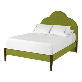 The Crown Bed - Queen - Kate - Como, Kelly Green For Sale