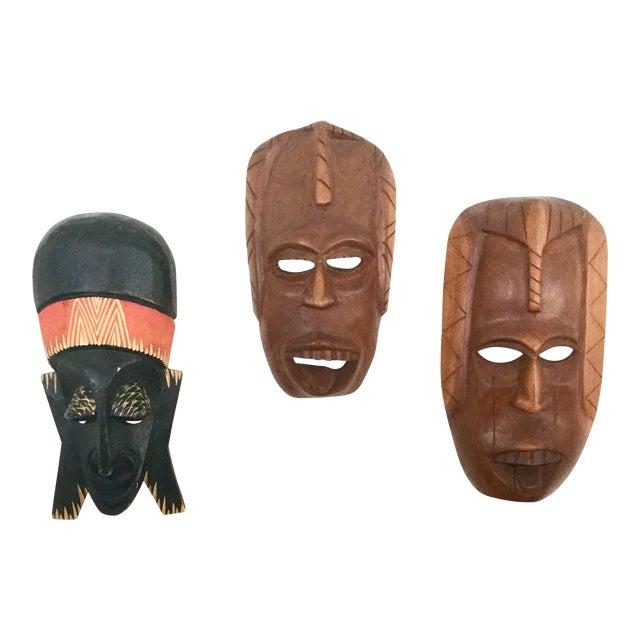 Vintage African Masks - Set of 3 - Image 1 of 9