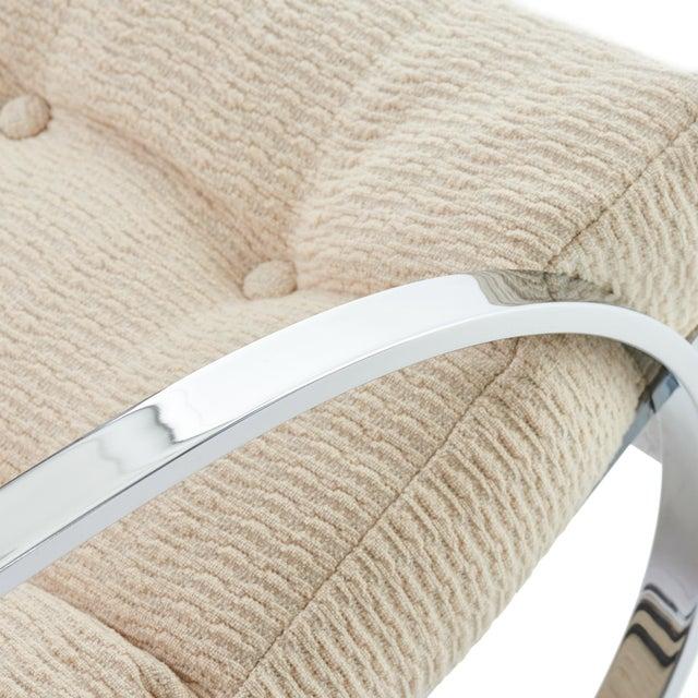 Selig Mid Century Modern Renato Zevi for Selig 'Ellipse' Chrome Rocking Chair For Sale - Image 4 of 9