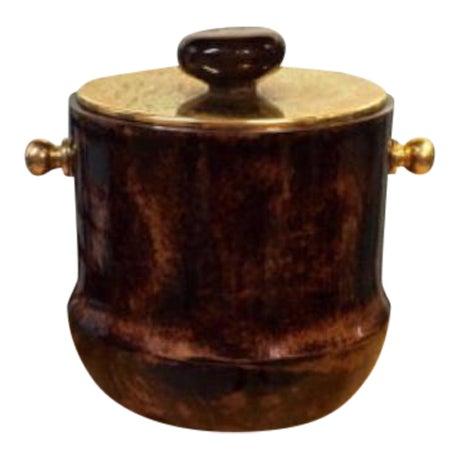 Italian Mid-Century Aldo Tura Goatskin Ice Bucket - Image 1 of 6