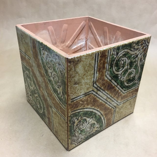 Contemporary Italian Tile Cachepot/Riser For Sale - Image 4 of 7