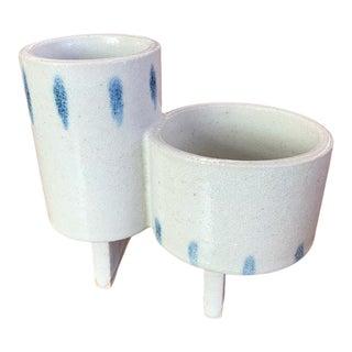 Japanese Ikebana Ceramic Double Planter For Sale