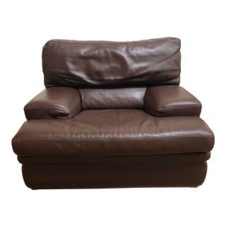 Roche BoboisLeather Arm Chair For Sale