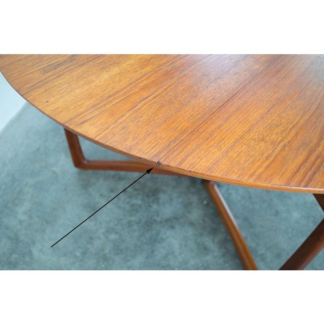 Spectacular Peter Hvidt & Orla Molgaard-Nielsen, C. 1960 Teak Dining Table For Sale - Image 11 of 13