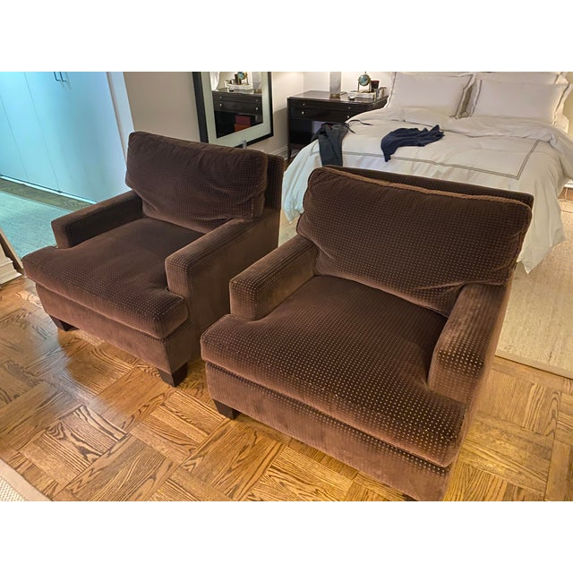 2010s Barbara Barry Modern Lounge Chairs - A Pair For Sale - Image 5 of 6