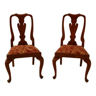 Henkel Harris Cherry Queen Anne 110 Side Chairs - a Pair For Sale