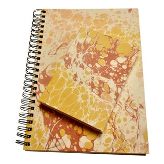 Summer Marbled Paper Notebooks - a Pair For Sale